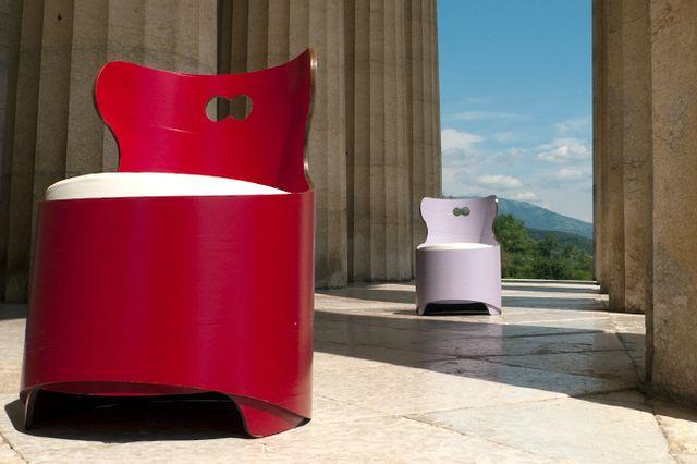 мебель из бумаги - стулья из целлюлозных труб