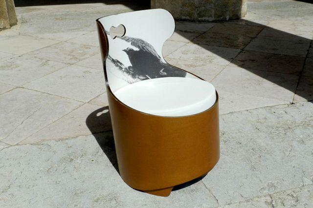 мебель из бумаги - кресла из целлюлозных труб