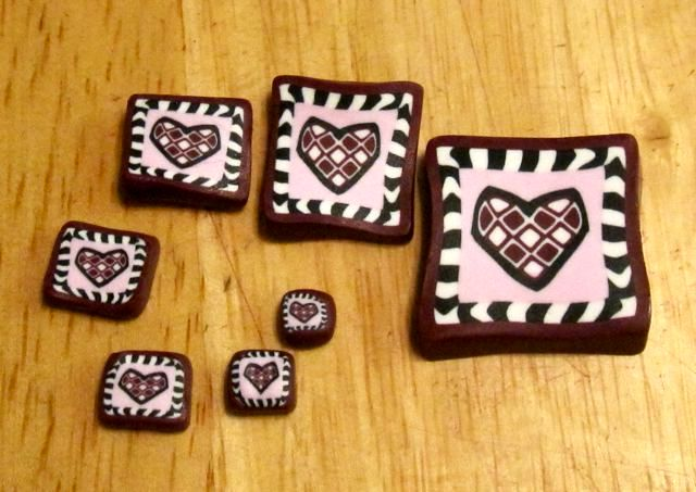 оформление подарков из полимерной глины на 14 февраля