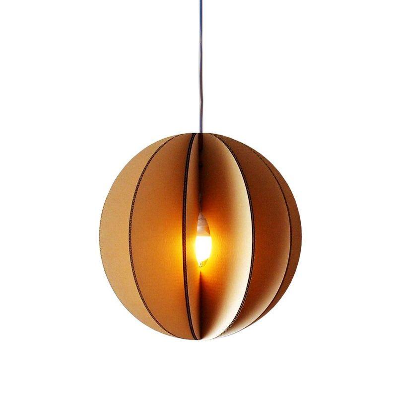 картонный потолочный светильник