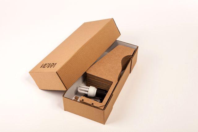 светильник из картона