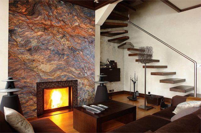 дизайн каминов в стиле модерн