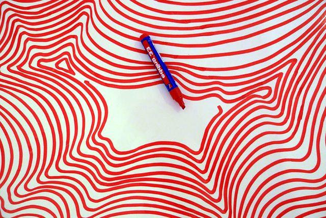 как сделать объемный пол с помощью маркера