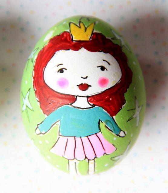 роспись пасхальных яиц акриловыми красками, гуашью и маркерами