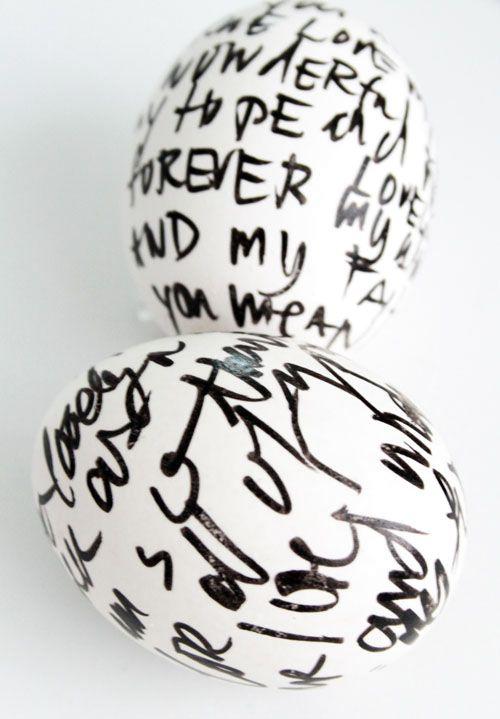 роспись пасхальных яиц перманентным маркером