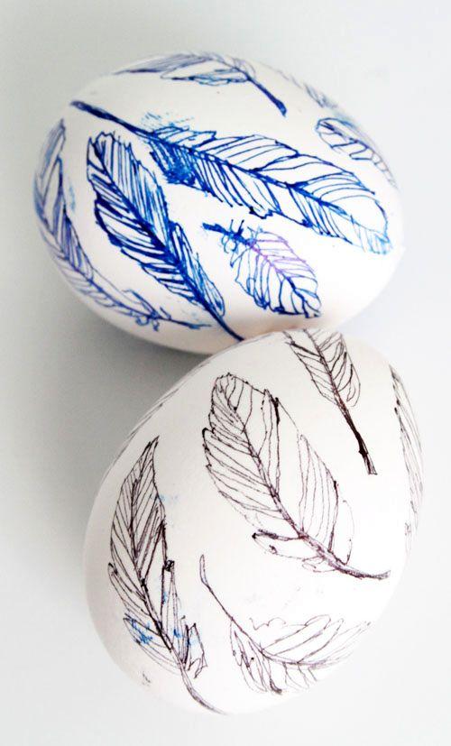 роспись пасхальных яиц гелевой ручкой