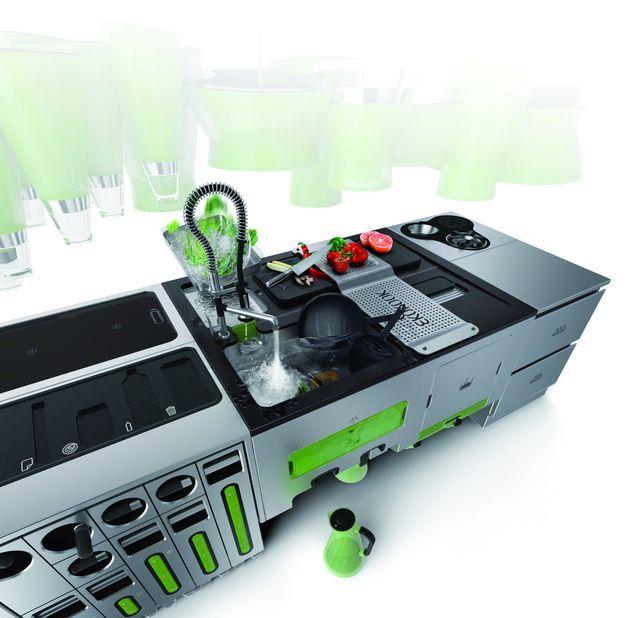 эко кухня с системами переработки отходов и фильтрации воды