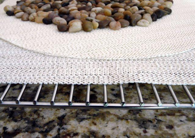 мастер -класс как сделать коврик из камешков своими руками