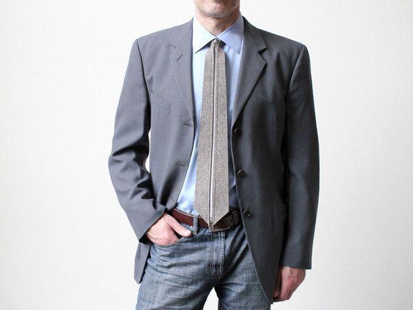 оригинальный галстук на молнии zip tie