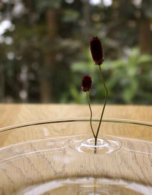 необычная крышка для вазы - круги на воде