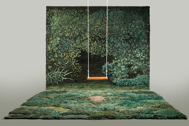 коврик трава и гобелен на стену