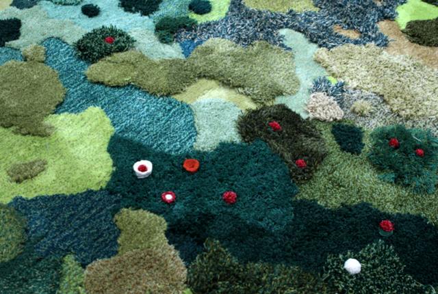 ковровое покрытие трава и мох