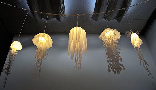 коллекция светильников - медуз от roxy russel design