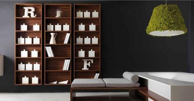 декоративный мох на потолочном светильнике Moss Design