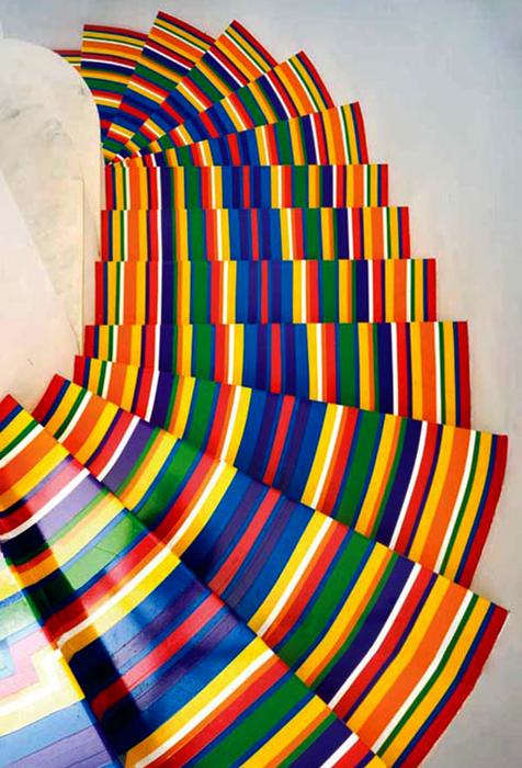 декор лестницы виниловыми лентами