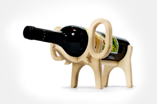 подставки для бутылок вина в виде слона