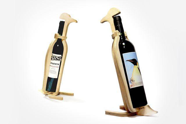 подставки для бутылок вина в виде пингвинов