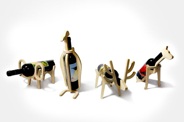 подставки для бутылок вина в виде животных