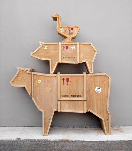 мебель в виде фермерских животных