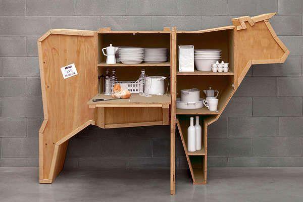 шкаф для посуды - мебель в виде животных