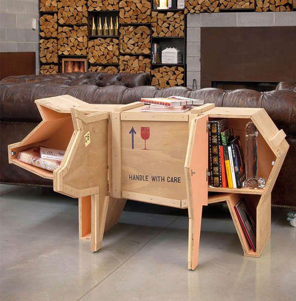 журнальный столик - мебель в виде животных