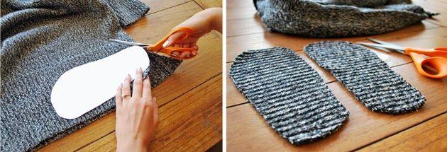 выкройка домашних тапочек своими руками