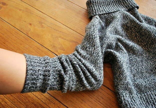 как сделать тапочки своими руками из свитера