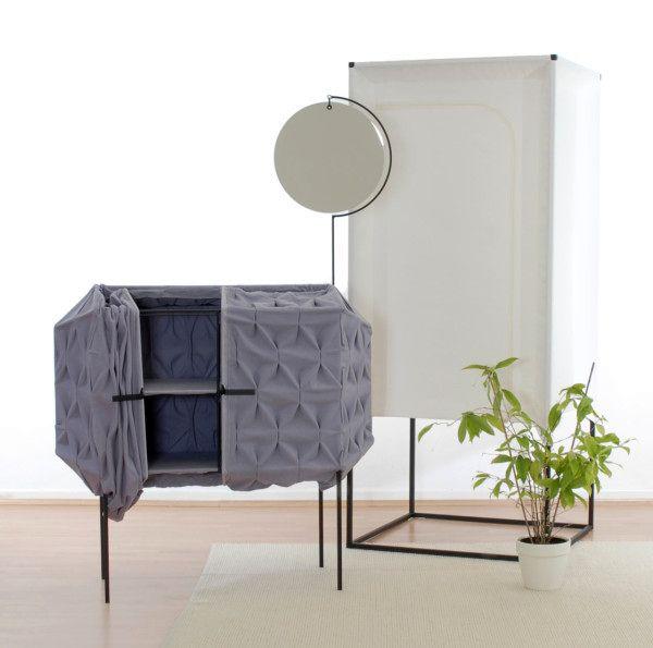 легкая мебель из ткани - комод с зеркалом