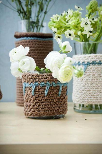 шерстяные чехлы на мебель и вазы