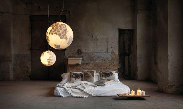 светильники шары с кружевами