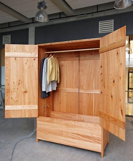 деревянная закрытая ванна - шкаф