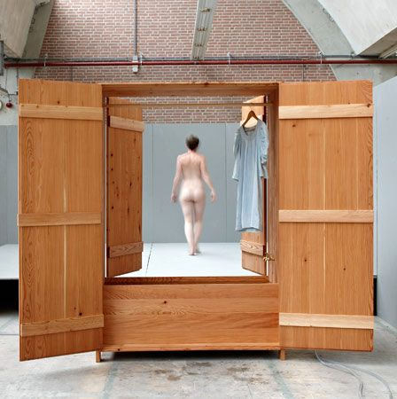 оригинальная деревянная закрытая ванна с шкафом