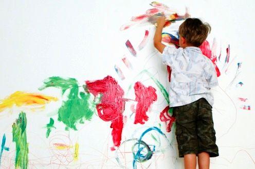 разрисовать стену под перфорированные обои