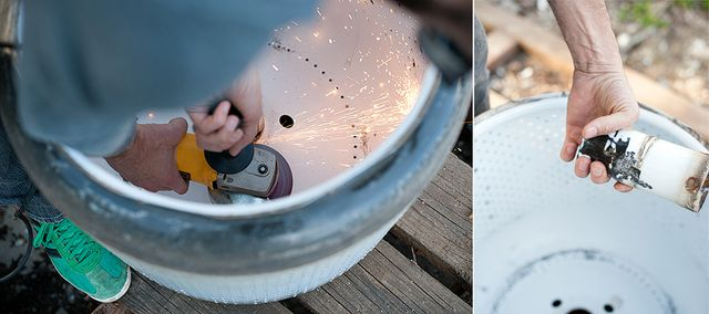 чаша для костра своими руками из барабана стиральной машины