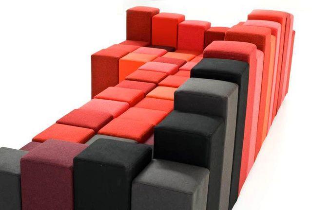 разноцветный модульный диван -трансформер Do-Lo-Rez