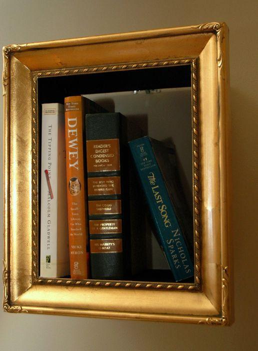 книжные полки в багете своими руками