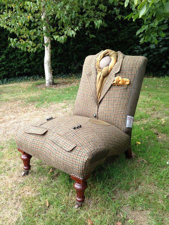 обивка кресла из английского костюма