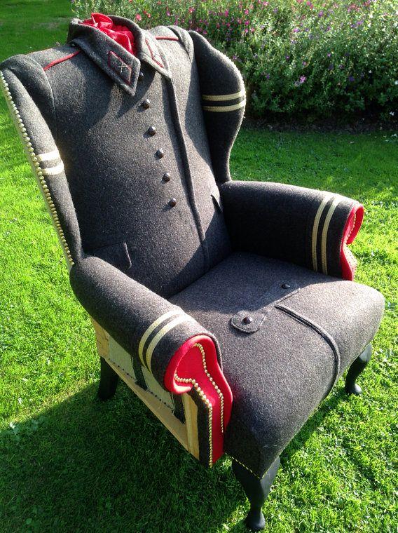 обивка кресла из военной шинели