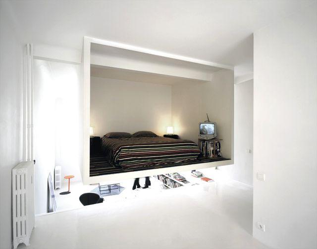 подвесная спальня