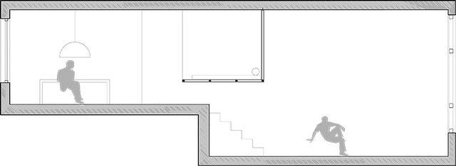 проект квартиры с подвесной спальней