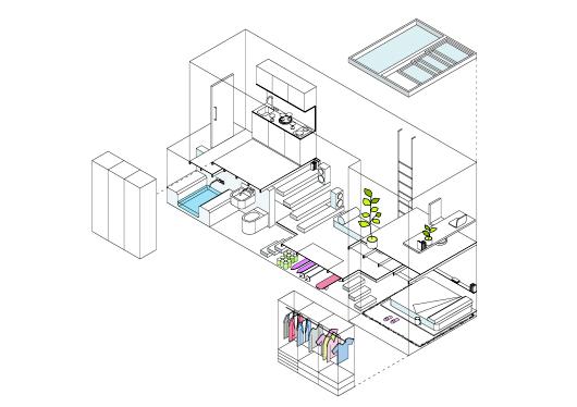 проект двухуровневой квартиры