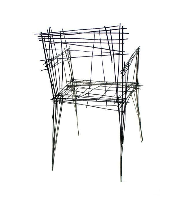 стул из проволоки из серии Drawing series
