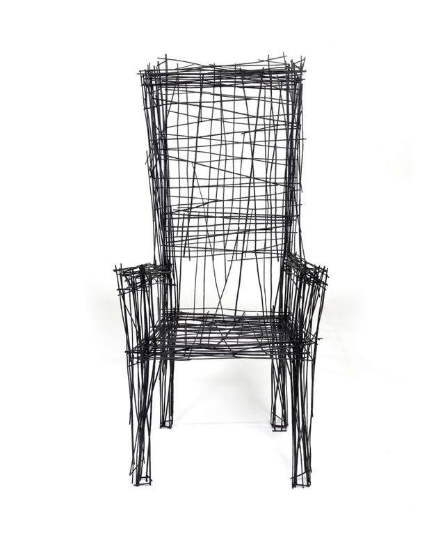 кресло из проволоки из серии Drawing series