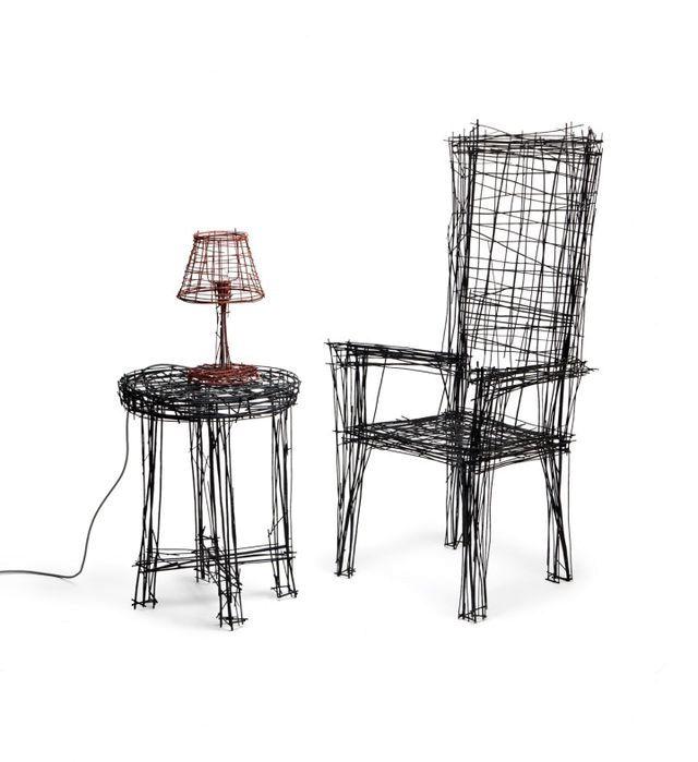 мебель из проволоки серии Drawing series