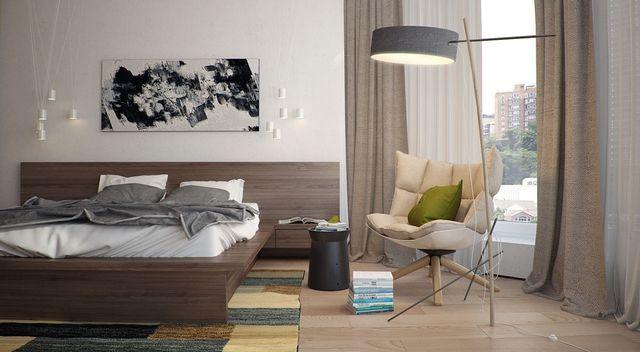 спальня в квартире стиля модерн