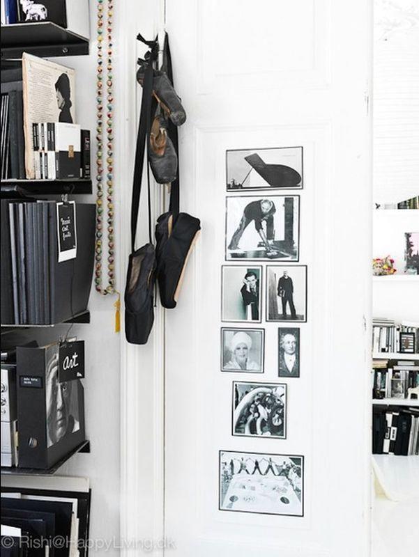 детали черно-белого дизайна интерьера студии Tenka Gammelgaard