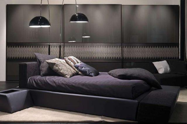 темные цвета в интерьере спальни