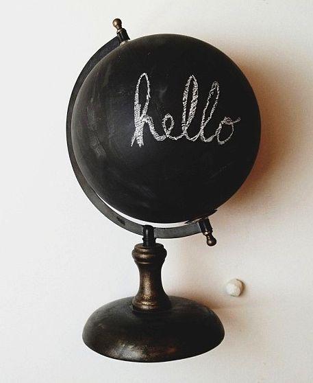 меловый шар из глобуса своими руками