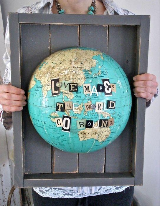 подарок оригинальный своими руками из старого глобуса