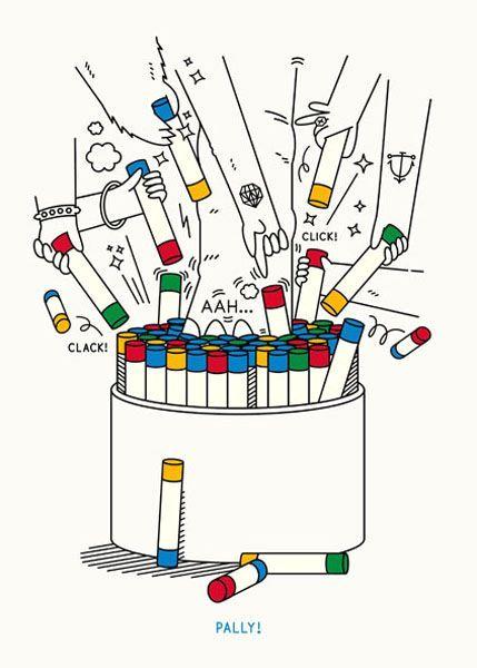 разноцветные палочки в детской табуретке Pаlly